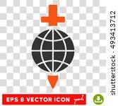 vector global safety sword eps... | Shutterstock .eps vector #493413712