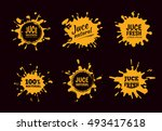 illustration set of yellow... | Shutterstock . vector #493417618