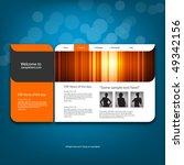 website design template  vector. | Shutterstock .eps vector #49342156