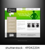 website design template  vector. | Shutterstock .eps vector #49342204