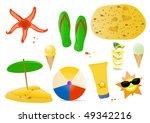 vector illustration of summer... | Shutterstock .eps vector #49342216