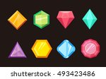 cartoon gems jewels diamond... | Shutterstock .eps vector #493423486