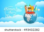 vacation travelling concept.... | Shutterstock .eps vector #493432282