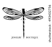vector logotype for jewelry... | Shutterstock .eps vector #493432756