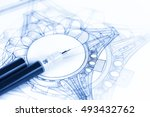 architecture drawings  ... | Shutterstock . vector #493432762