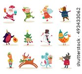 christmas characters set with