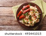dutch winter meal  stamppot of... | Shutterstock . vector #493441015