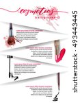 cosmetics and fashion... | Shutterstock .eps vector #493443445