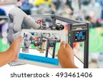 industry 4.0 and augmented... | Shutterstock . vector #493461406