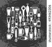 icons of bottles drinks and...   Shutterstock .eps vector #493462306