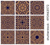 arabic seamless floral patterns ... | Shutterstock .eps vector #493463572