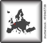 map of belgium | Shutterstock .eps vector #493465738