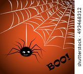 halloween greeting card or... | Shutterstock .eps vector #493468312