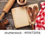 blank vintage recipe cooking...   Shutterstock . vector #493472056