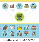icon set office vector | Shutterstock .eps vector #493472962