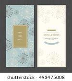wedding invitation card suite... | Shutterstock .eps vector #493475008