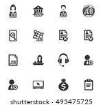 job icon set for web sites and... | Shutterstock .eps vector #493475725