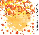 autumn banner template with... | Shutterstock .eps vector #493483936