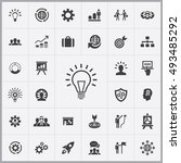 solution icons universal set... | Shutterstock . vector #493485292
