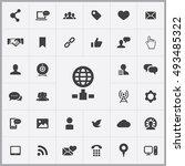 social media icons universal... | Shutterstock . vector #493485322