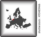 map of netherlands | Shutterstock .eps vector #493485466