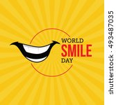world smile day vector... | Shutterstock .eps vector #493487035