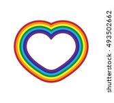 rainbow icon heart. flat sign ... | Shutterstock . vector #493502662