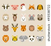 animal icons | Shutterstock .eps vector #493538722