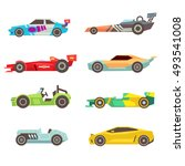 sport racing car flat vector... | Shutterstock .eps vector #493541008