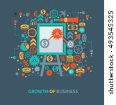 growth of business concept... | Shutterstock .eps vector #493545325
