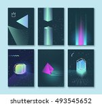set of vector backgrounds of... | Shutterstock .eps vector #493545652