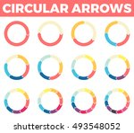 thin circular arrows for... | Shutterstock .eps vector #493548052