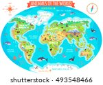 animals of the world vector.... | Shutterstock .eps vector #493548466