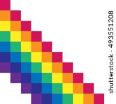 vector gay flag. gay pride flag.... | Shutterstock .eps vector #493551208