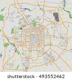 highly detailed beijing city... | Shutterstock .eps vector #493552462