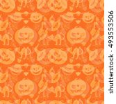 art seamless pattern for happy... | Shutterstock .eps vector #493553506