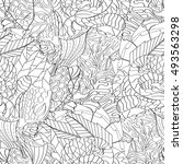 tracery seamless calming...   Shutterstock .eps vector #493563298