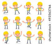 set of laughing and joyful...   Shutterstock .eps vector #493563766