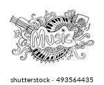 music sketchy background | Shutterstock .eps vector #493564435