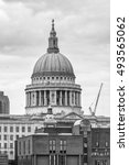 st. pauls cathedral view from... | Shutterstock . vector #493565062