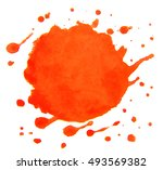 colorful abstract watercolor... | Shutterstock . vector #493569382