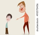 family conflict. aggressive man ... | Shutterstock .eps vector #493570456