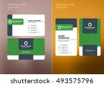 corporate business card print... | Shutterstock .eps vector #493575796