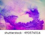 ink spot spreads on paper...   Shutterstock . vector #493576516