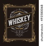 vintage badge for whiskey... | Shutterstock .eps vector #493580068