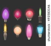 vector set of realistic... | Shutterstock .eps vector #493583146