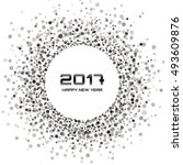 gray   white color new year... | Shutterstock .eps vector #493609876