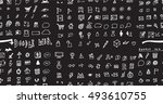 hand drawn seamless doodle...   Shutterstock .eps vector #493610755
