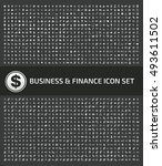 business and finance icon set... | Shutterstock .eps vector #493611502