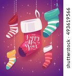 vector illustration of 5... | Shutterstock .eps vector #493619566